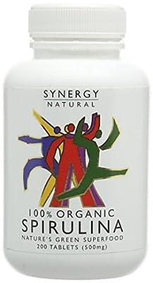 Synergy Natural Organic Spirulina Tablets, 200 Tablets