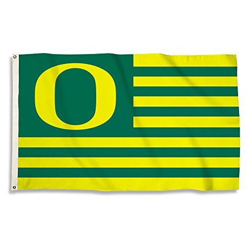 BSI NCAA Flagge mit Ösen, 91 x 152 cm, Unisex, NCAA 3 Ft. X 5 Ft. Flag with Grommets, Oregon-1, Einheitsgröße