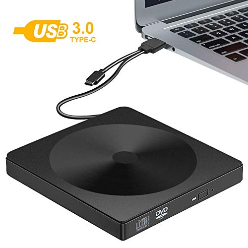 Externe cd-dvd-drive rewriter, draagbare USB 3.0 cd-drive, cd/dvd + / rw cd/dvd-rom brander rewriter Voor laptop desktop pc's Windows 10/8 / XP en Linux-besturingssystemen Mac MacBook Pro