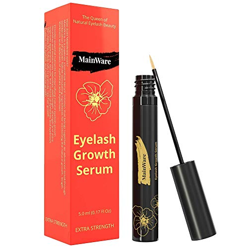 MainWare Eyelash Growth Serum and Eyebrow Enhancer - After Using Eyelash Serum You Will get Ealthy Long and Thick Eyelashes - Lash Boost Serum for Longer - Safe & Effective 5 ml
