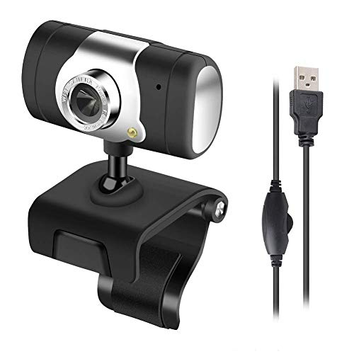 vap26 HD Webcam con Micrófono, Portátil PC Escritorio Webcams, Live Streaming USB Ordenador Cámara Web para Vídeo Calling,Grabación,Conferencias,Videojuego