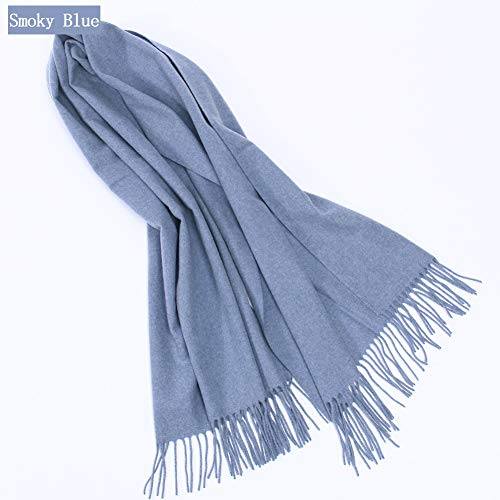 TIANPIN Winter wollen sjaal sjaal kasjmier Wrap Super zachte warme dikke dual-use sjaal - dames/mannen (70 * 200cm)
