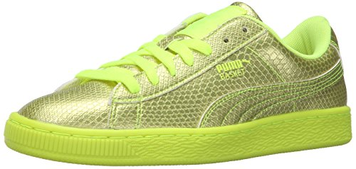 PUMA Women's Basket Future Minimal WN's Fashion Sneaker, Safety Yellow, 7.5 M US