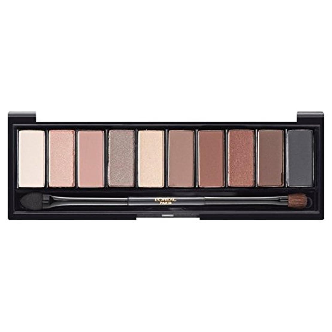 ショッピングセンタージョージハンブリーわがままロレアルパリカラーリッシュ?ラ?パレットのアイシャドウ、ヌードベージュ x4 - L'Oreal Paris Color Riche La Palette Eyeshadow, Nude Beige (Pack of 4) [並行輸入品]