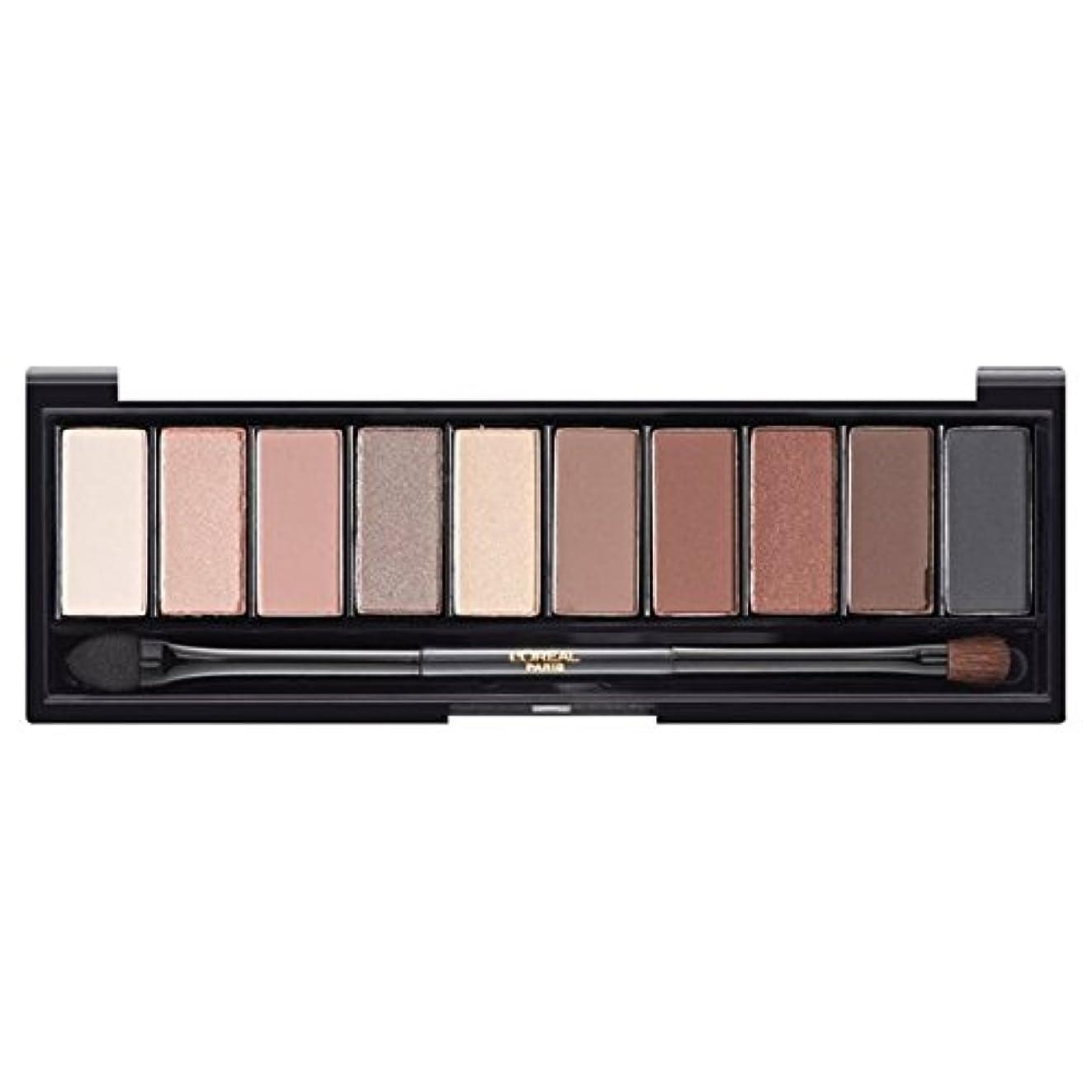 上院大胆な逆さまにロレアルパリカラーリッシュ?ラ?パレットのアイシャドウ、ヌードベージュ x4 - L'Oreal Paris Color Riche La Palette Eyeshadow, Nude Beige (Pack of 4) [並行輸入品]