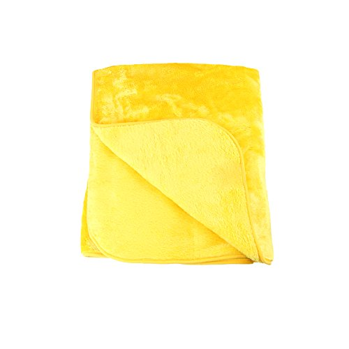 Amago Wohn- & Kuscheldecke, Cashmere-Feeling, Gelb/Orange, 220 x 240 cm, 40024-11-2040