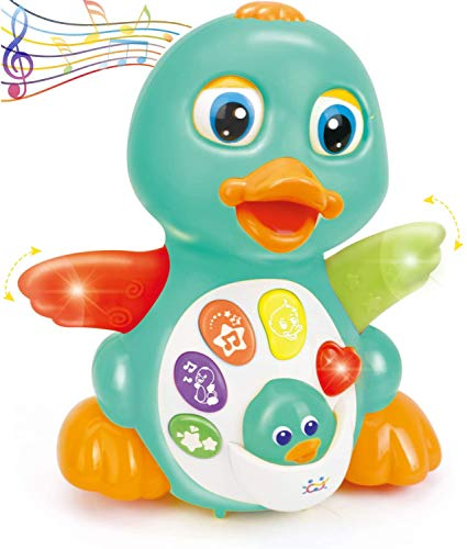 HUILE Musical Light Up Dancing Duck