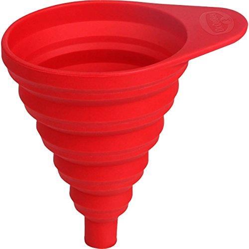 Dr. Oetker Embudo Plegable, Silicona, Rojo, 36.5 x 36.5 x 44.4 cm