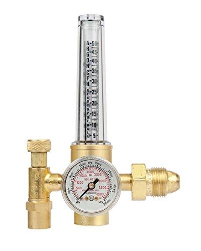 Victor Technologies 0781-2723 HRF-1425-580 Light Duty Flow Meter Cylinder Nitrogen/Argon/Helium Regulator, 50-38 SCFH Flow Range, 25 psig Outlet Pressure