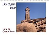 Bretagne - Côte de Granit RoseAT-Version (Wandkalender 2022 DIN A2 quer): Die Côte de Granit Rose hat viele Kuenstler zu ihren Bildern und Skulpturen inspiriert. (Monatskalender, 14 Seiten )