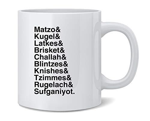 Poster Foundry Hanukkah Nosh Foods Ampersand List Funny Jewish Ceramic Coffee Mug Tea Cup Fun Novelty Gift 12 oz