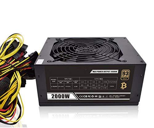 Fuente de alimentación de minería Modular 2000W, PSU para 8 GPU Eth RIG Ethereum Miner para Bitcoin Moneda Minería, hasta 95% de Alto Ahorro de energía en el Mercado atómico BTC Miner PC alimentación