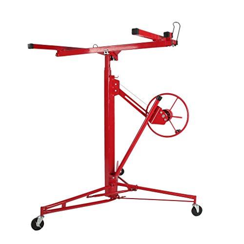Blackpoolal XXL Plattenheber trockenbau Set für rigipsplatten montagehilfe Plattenlift Paneelheber Heber bis 68 kg Rot