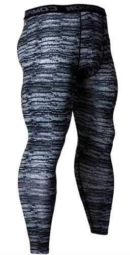Ducomi Mallas de compresión para hombre y mujer, para correr y yoga, elásticas, para fitness, para niños, transpirables, ligeras, para correr, hacer deporte o gimnasio rayas azules XXL
