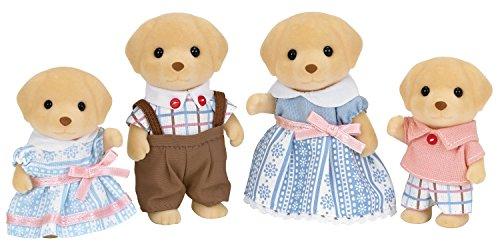 Sylvanian Families - Le Village - La Famille Labrador - 5182 - Famille 4 Figurines - Mini Poupées