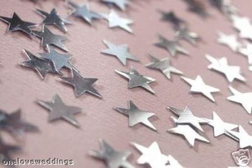 4 X Argent étoiles fête de mariage Celebration Confettis de table NEUF