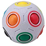 Courage Ouyang - Bola mágica de plástico, diseño de cubo de Rubik Twist para jóvenes y adultos, color arcoíris