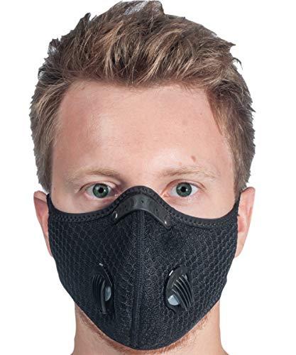 MaskFit20 Mundschutz Maske Schwarz mit...
