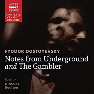 Notes from Underground and The Gambler audiobook cover art