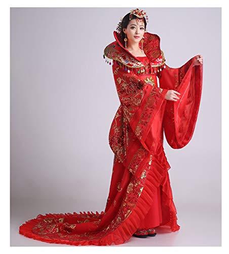 YUNGYE Hanfu - Disfraz de danza concubina imperial de Wu Zetian Han y Tang, estilo chino (color: estilo A, tamao: talla nica)
