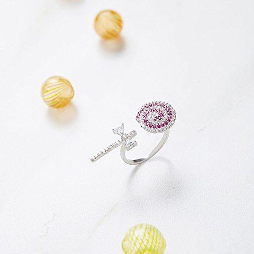 Helen de Lete Sweet Candy Girl Lollipop 925anillo de plata de ley