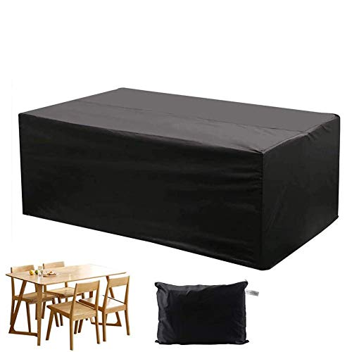 XGG Garden Furniture Covers protective cover for garden furniture, waterproof protective cover garden table cover furniture sets, waterproof 210D Oxford fabric95.27 * 63.78 * 39.37in