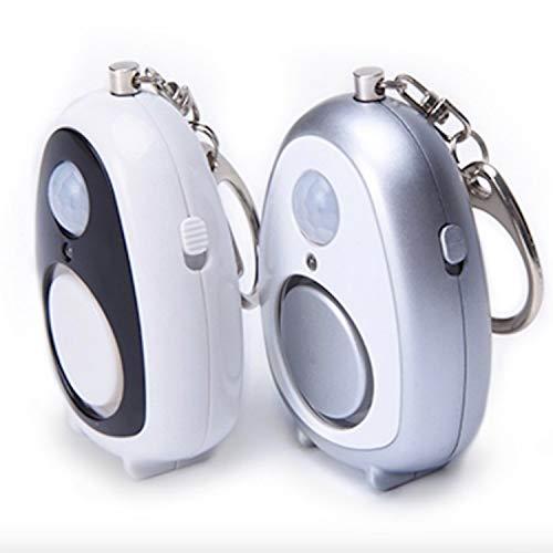 Woodtree Sensores Infrarrojos multifunción, la autodefensa de Alarma de Seguridad Personal, inmovilizador Hotel residencial (Color : White, Size : 55 * 40 * 25MM)