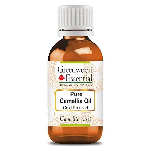 Greenwood Essential Pure Camellia Oil (Camellia kissi) 100% Natural Therapeutic Grade Cold Pressed for Personal Care 15ml (0.50 oz)