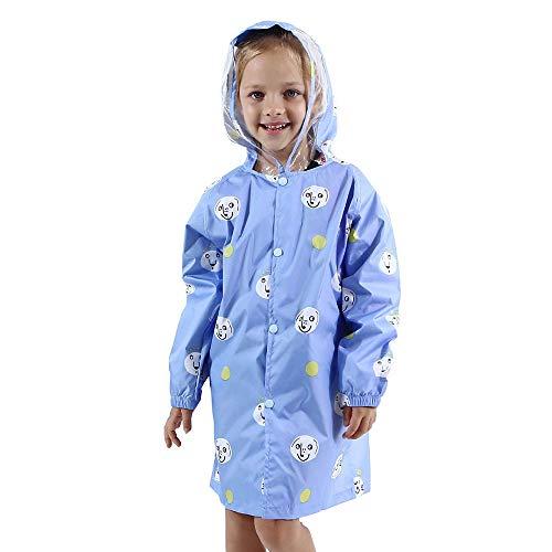 @W.H.Y Kinder Sommer Regenmantel - Kinder Regenmantel Poncho Tasche Regenmantel Poncho Pineapple Regenmantel,Blue,M