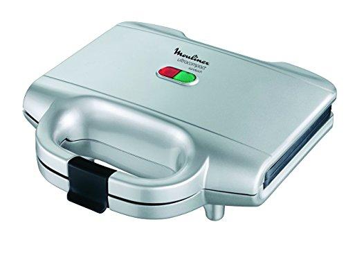 Muolinex 2057900 Ultracompact SM1561 Moulinex Elektro-Toaster, ultracompress, 700 W, Haushaltsgeräte für Zuhause, silber/schwarz