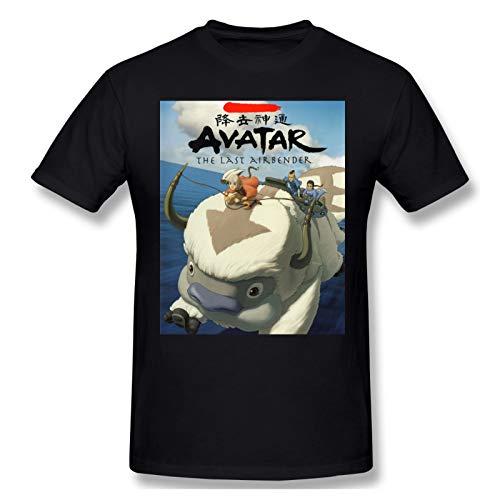 DCEGas Avatar The Last Airbender Appa - Camiseta de manga corta con cuello redondo para hombre, color negro