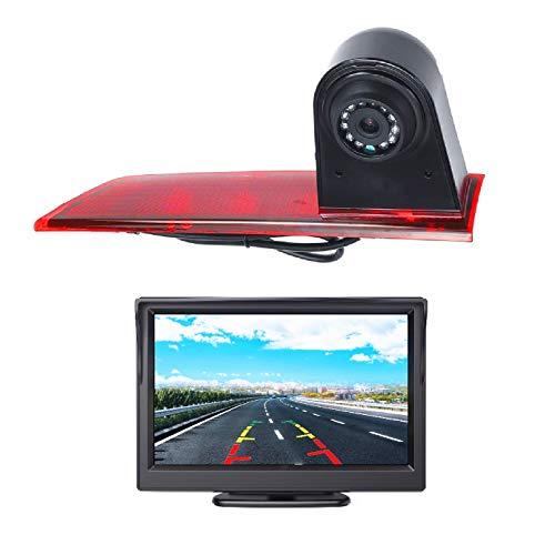 "HD 720p Auto Dritte Dach Top Mount Bremsleuchte Kamera Bremslicht Rückfahrkamera für Ford Transit Custom V362 2012-2019 +5.0"" Zoll DVD Monitor TFT Bildschirm LKW KFZ LCD Display"