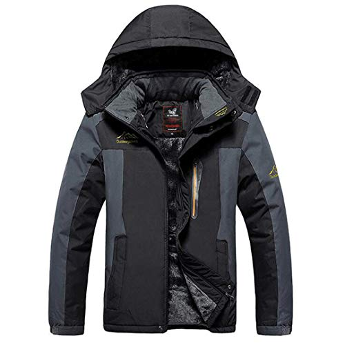 WEIYOUYO 6XL7XL 8XL 9XL Winterjacke Männer Dicke Winddichte Mäntel wasserdichte Fleece Jacken Mens Military Outwear Parka Mantel Black 9XL