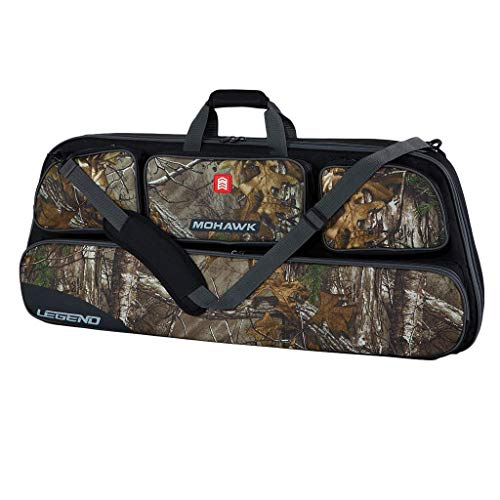 Legend Mohawk Camouflage Compound Bow Case - Thick Protective Padding and Storage for Hunting and Archery Accessories
