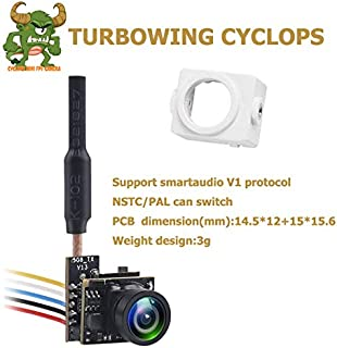 TURBOWING Cyclops v2 Smart Audio Vtx Micro AIO 700TVL Camera Only 3.3g 5.8ghz 48ch 25mw Vtx Aio Camera with Cover Shell for Micro FPV Racing Quadcopter Drone