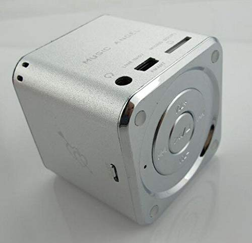 MUSIC ANGEL JH-MD07U Mini Portable Rechargeable Media Player Speaker w/TF/FM - Silver