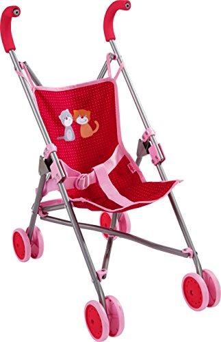HABA 303815 - Puppenbuggy Jule | Handlicher Buggy mit Anschnallgurt | Lässt sich schnell zusammenklappen und platzsparend verstauen