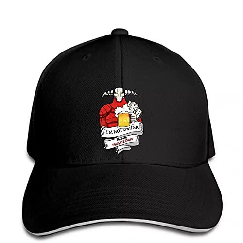 FOMBV Berretto da Baseball Uomo Drunk Cool Printed Snapback Hat con Visiera Regolabile Stampato Cappello Visiera Regalo