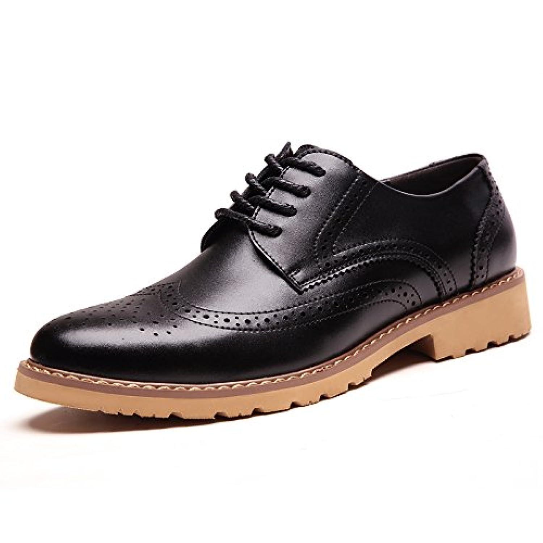 [HIMAWARI] ビジネスシューズ メンズ 革靴 ウイングチップ カジュアルシューズ ウォーキング メッシュ 通勤 レースアップ 柔らかい