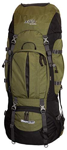 Tashev Outdoors Trekkingrucksack Wanderrucksack Mount 100 Plus 20 Liter aus Cordura inkl. Regenhülle (Grün)