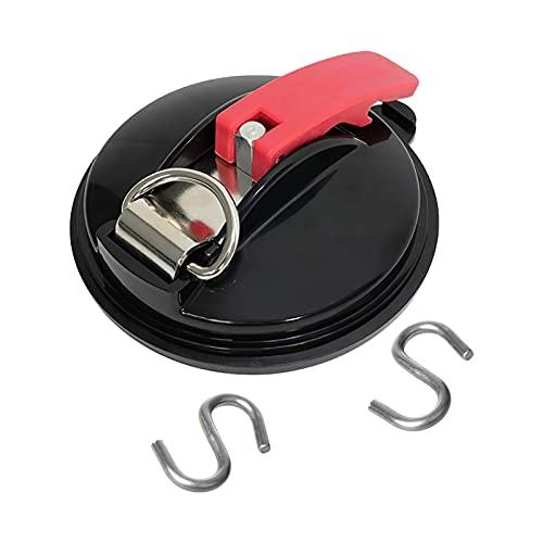 Hellery Anclaje de Ventosa para Automóvil con Gancho en S Carpas Resistentes para Equipaje de Montaje en Automóvil
