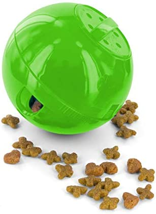 PetSafe Slimcat Feeder Ball - Interactive Game for Your Cat - Fill with Food and Treats - Great for Portion Control and Fast Eaters