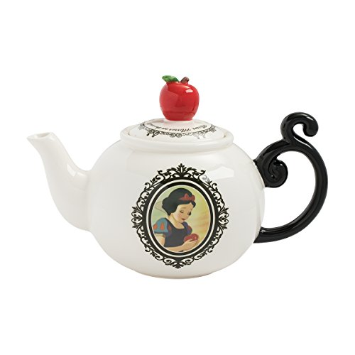 Vandor Disney Snow White Heat Reactive Sculpted Ceramic Teapot, 6 x 10 x 7.5 Inches