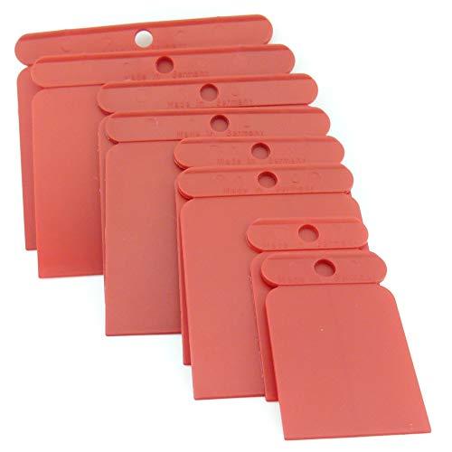 8 teiliger Satz Kunststoff Flächenspachtel Japanspachtel flexibel unzerbrechlich Karosseriespachtel aus Plastik lösungsmittelfest
