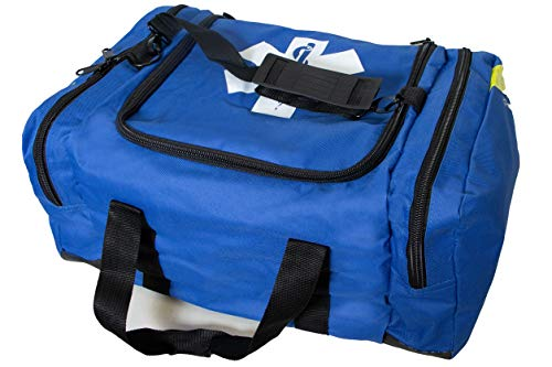 Primacare KB-4135-B First Responder Bag for Trauma, Professional Compartment Kit Carrier for Emergency Medical Supplies, Blue, 22x14x5 inches