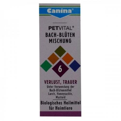 Canina Pharma Petvital Bachblüten Nr. 6 - Verlust 10g, Beruhigunsmittel, schlafmittel