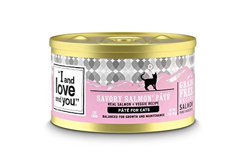 Comida en lata paté de salmón sin cereales para gatos – I and Love and You