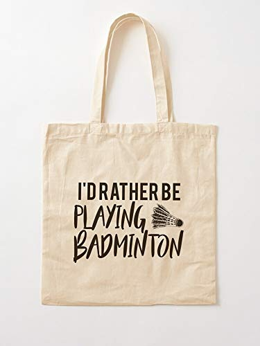 Badminton Tote Ideas Players Shuttlecock Sport Gift Bag | Canvas Tote Umhängetasche Stylish Shopping Casual Bag Faltbare Reisetasche