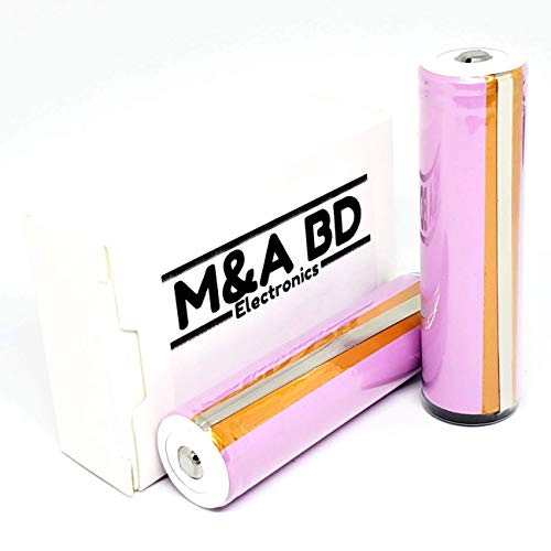 M&A BD 3.7V LG2600HG 2600mAh 5A Rechargeable Button Top Battery Protected - 2 Batteries