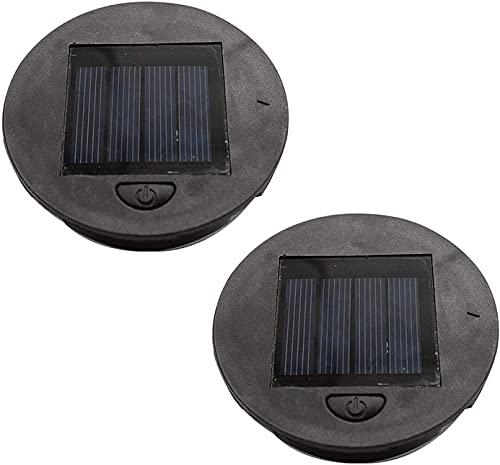 2 Stück/4 Stück Solar-Laternenlichtersatz oben 8 cm, LED-Solarpanel-Laterne, Deckel-Leuchten Ersatzteil, für hängende Laternen, DIY-Tischleuchten, Garten, Terrasse, Dekoration (4 Stück)